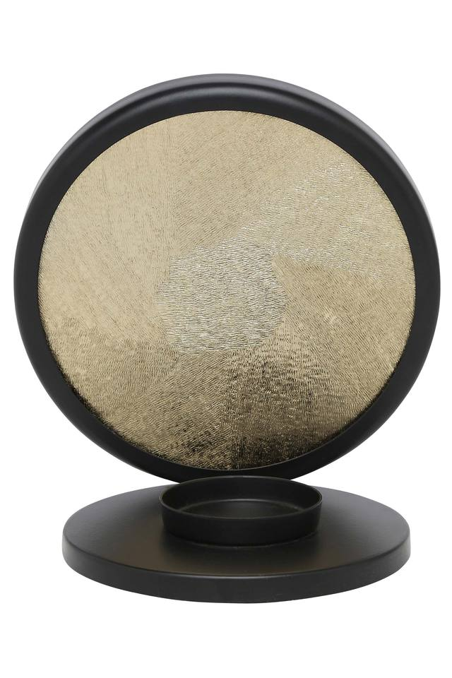Round Solid Textured Candle Holder