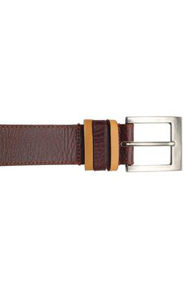 Mens Leather Buckle Closure Casual Belt