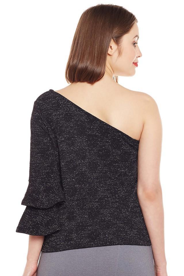 Womens One Shoulder Printed Top