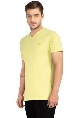 Mens V Neck Slub T-Shirt