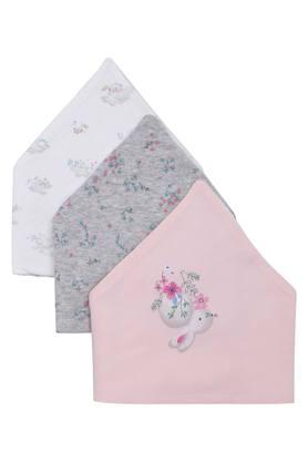 Girls Printed and Solid Bib Pack of 3