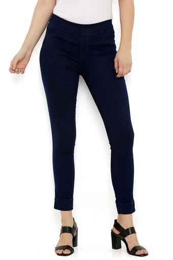 Womens 2 Pocket Coated Jeggings