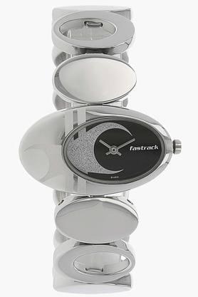 Fastrack Black Dial Brass Strap Watch - NJ6024SM01 image