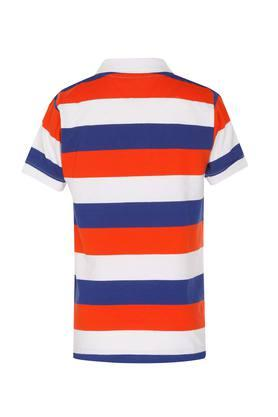 Boys Colour Block Polo T-Shirt