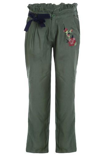 Girls 2 Pocket Embroidered Pants