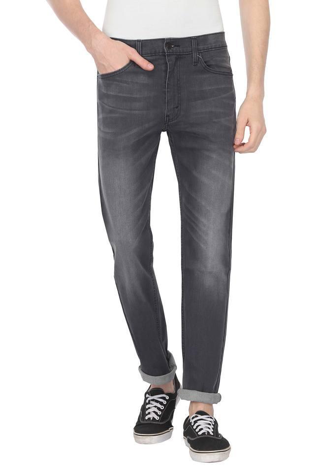 Mens 4 Pocket Whiskered Effect Jeans (513)