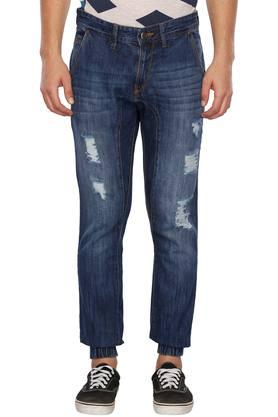 RS BY ROCKY STAR Mens Distressed Denim Joggers
