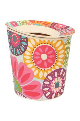 BACK TO EARTHConical Printed Dustbin With Lid