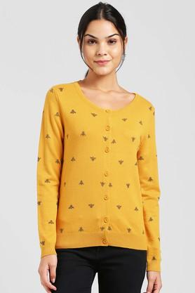 ZINK LONDON Womens Round Neck Printed Sweater - 204745218_9405