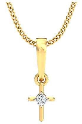 P.N.GADGIL JEWELLERS Womens Holy Cross Diamond Pendant DJPD-112
