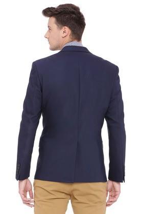Mens Peaked Lapel Solid Blazer