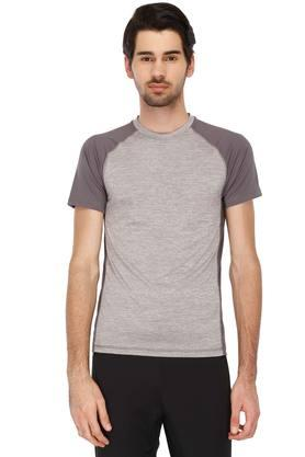 REEBOK Mens Round Neck Colour Block T-Shirt