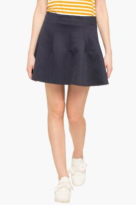 LIFEWomens Solid Mini Skirt