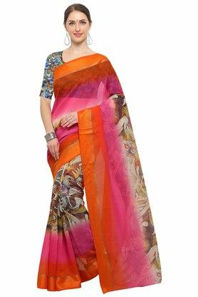 RACHNA Womens Art Silk Digital Printed Saree With Blouse - 204088364_7086