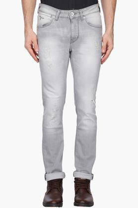 FLYING MACHINE Mens Skinny Fit Heavy Wash Jeans (Jackson Fit) - 202896851
