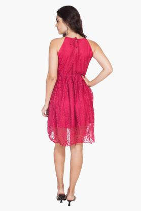 Womens Lace A-Line Dress