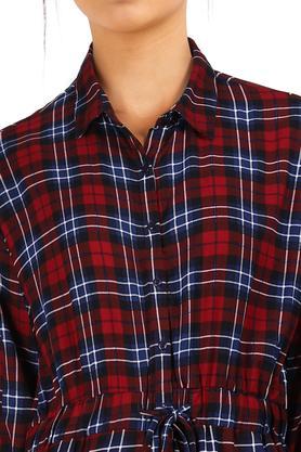 Womens Checked Shirt Dress