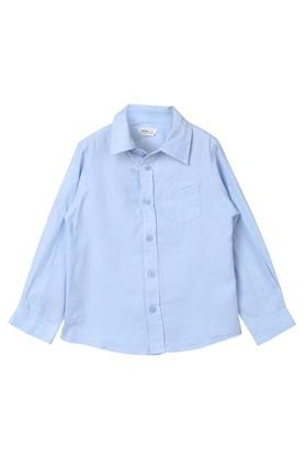 Boys Solid Casual Shirt