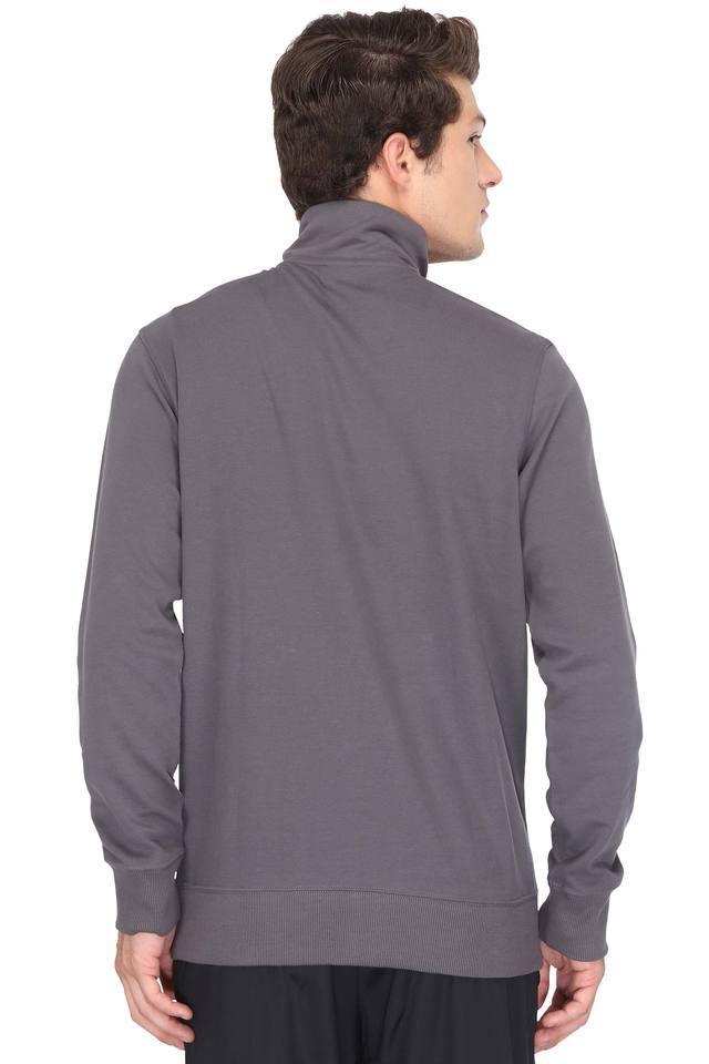 Mens Zip Through Neck Solid Jackets