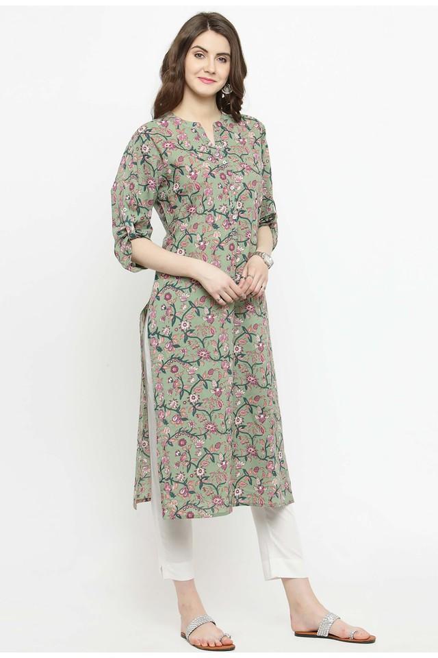 0e019579d5 Buy VARANGA Women Cotton print Straight Kurta | Shoppers Stop