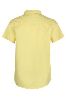 Boys Band Collar Solid Shirt