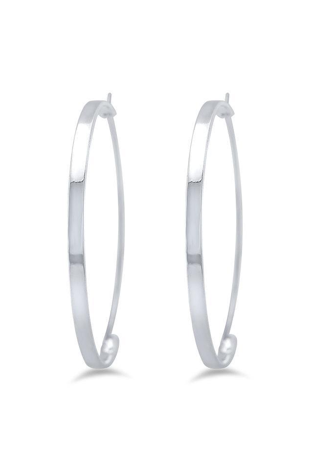 Womens Silver Plated Hoop Earrings