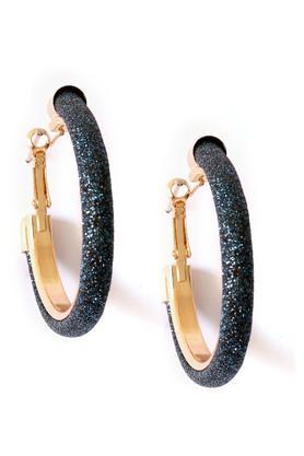 Womens Blue Metal Earrings