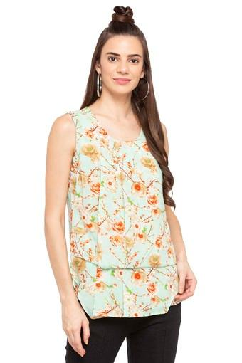 Buy Austin Reed Womens Round Neck Floral Print Top Shoppers Stop