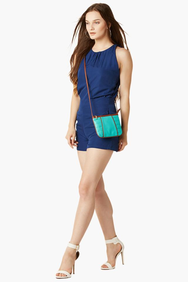 Womens Solid Casual Playsuit