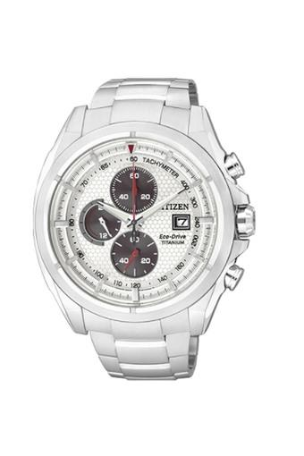 Unisex White Dial Chronograph Watch