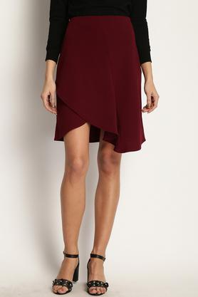 MARIE CLAIRE Womens Solid Knee Length Skirt - 203948198