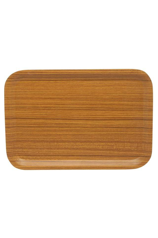 Wooden Finish Rectangular Tray