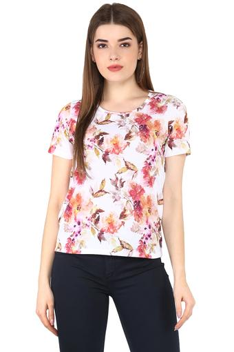 FEMINA FLAUNT -  Off White Tops & Tees - Main