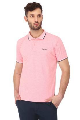 Mens Regular Fit Slub Polo T-Shirt