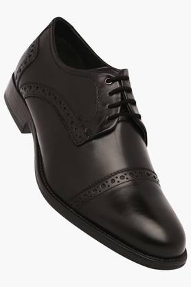 VENTURINI Mens Leather Lace Up Derbys - 203017956_9212