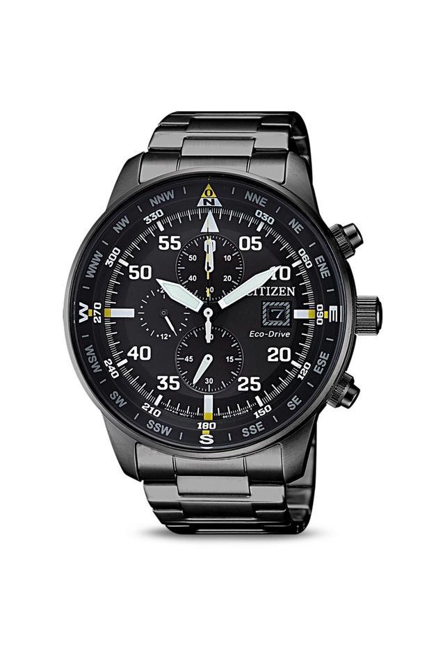 Mens Black Dial Chronograph Watch - CA0695-84E