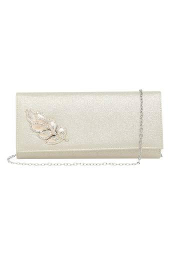 Womens Snap Closure Sling Clutch