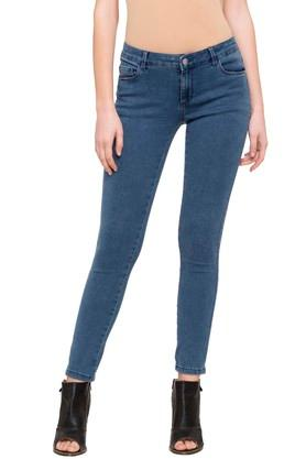 Womens 5 Pocket Rinse Wash Jeggings