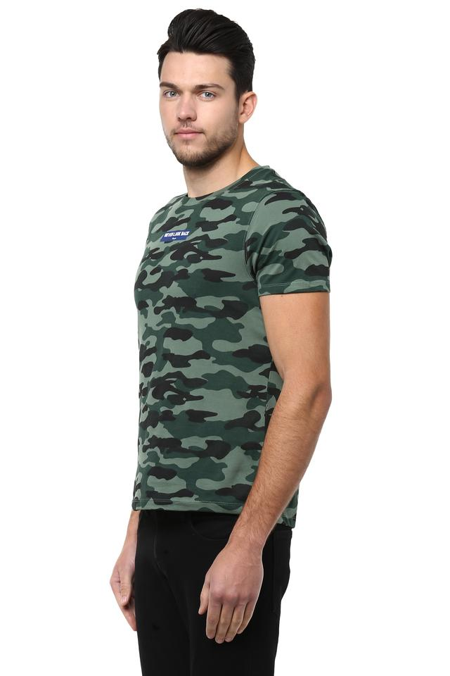 e633cf73168c Buy WRANGLER Mens Round Neck Camouflage T-Shirt | Shoppers Stop