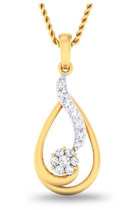 P.N.GADGIL JEWELLERSWomens Glitzy Diamond Pendant DPN5223