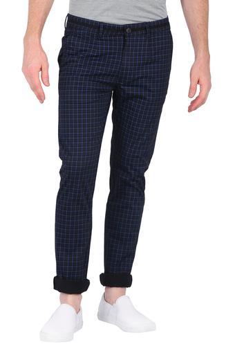Mens 4 Pocket Checks Trousers