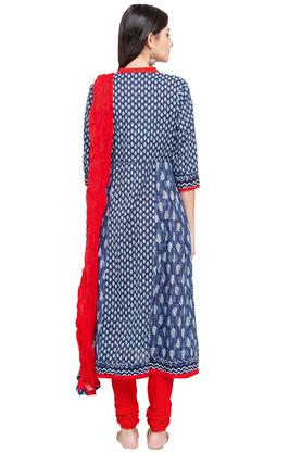 Womens Round Neck Printed Salwar Suit