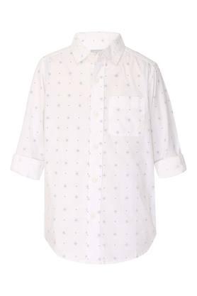 Girls Collared Printed Shirt