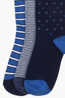 Boys Printed and Striped Socks - Pack Of 3