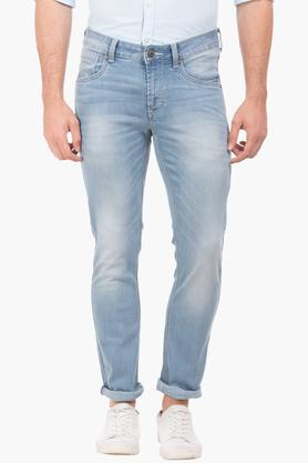 FLYING MACHINE Mens Skinny Fit Heavy Wash Jeans (Jackson Fit) - 202896873