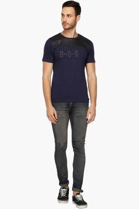 Mens 5 Pocket Vintage Wash Jeans