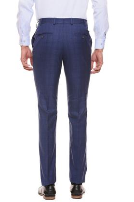 RAYMOND - Dark BlueFormal Trousers - 1