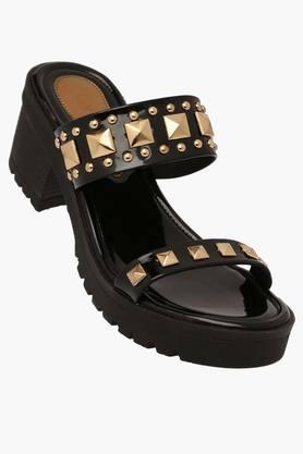 CATWALKWomens Party Wear Slipon Heel Sandals