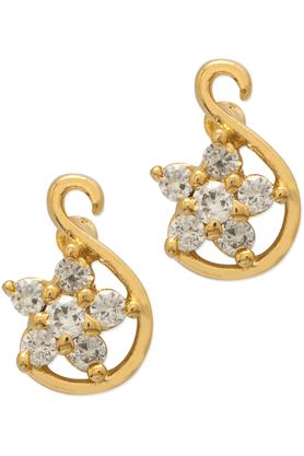 MAHIMahi Gold Plated Elegant Floral Earrings With CZ Stones For Women ER1108451G