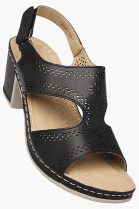 HAUTE CURRYWomens Daily Wear Velcro Closure Heel Sandal - 200834940